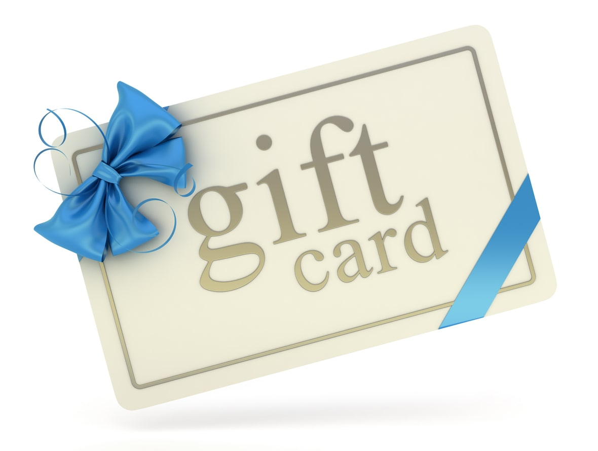 image of stock gift card