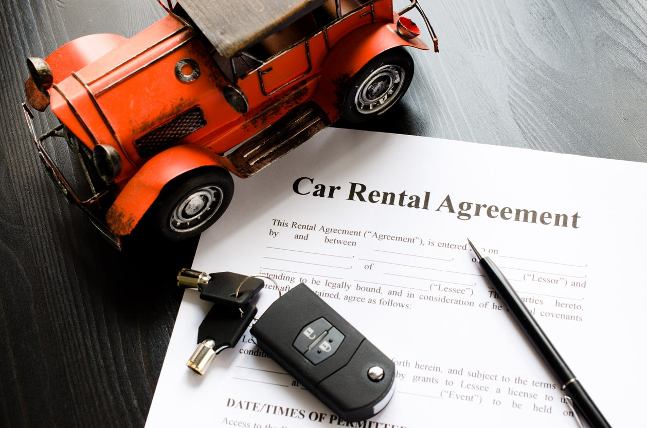picture of car rental agreement